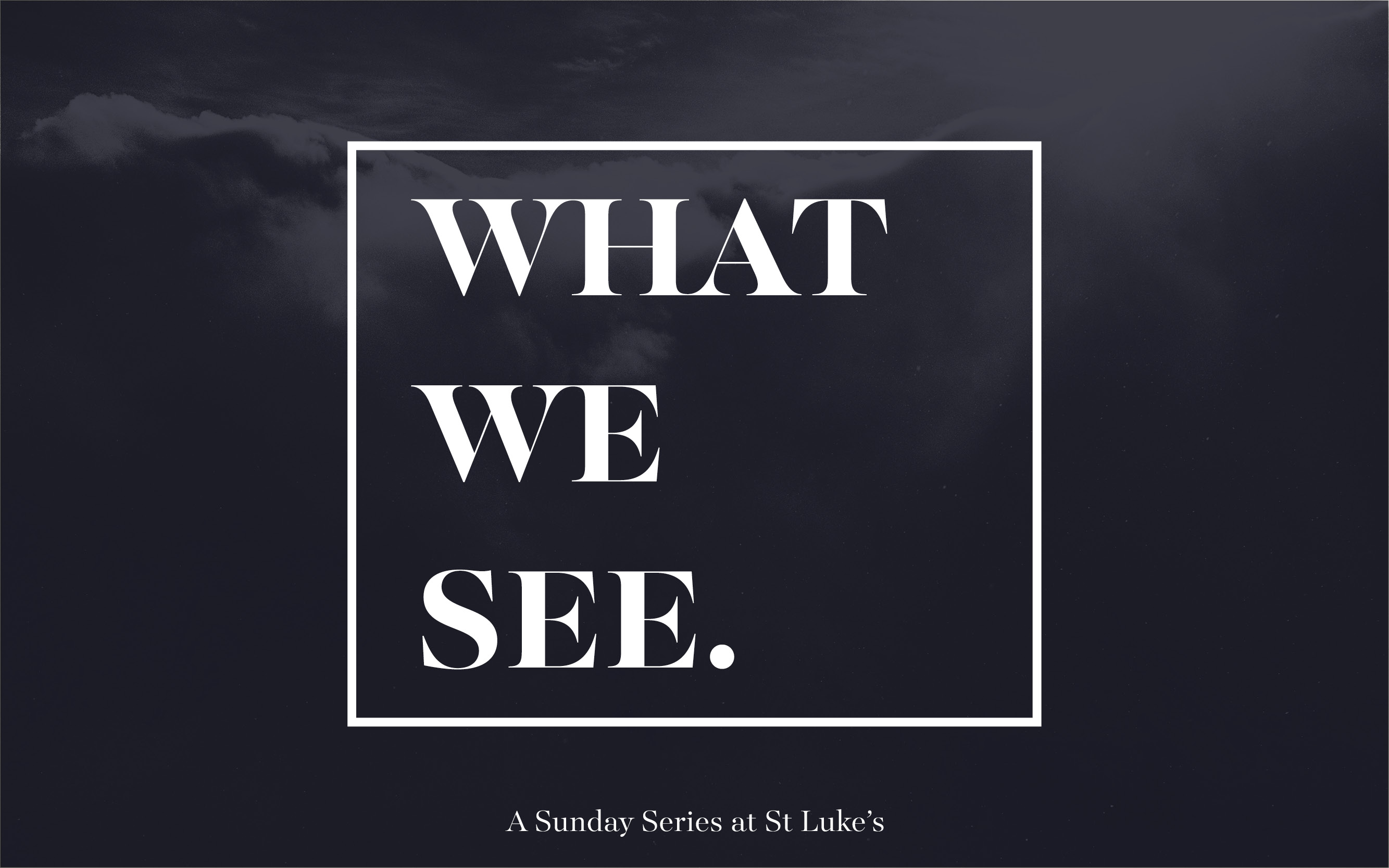 What we see Series